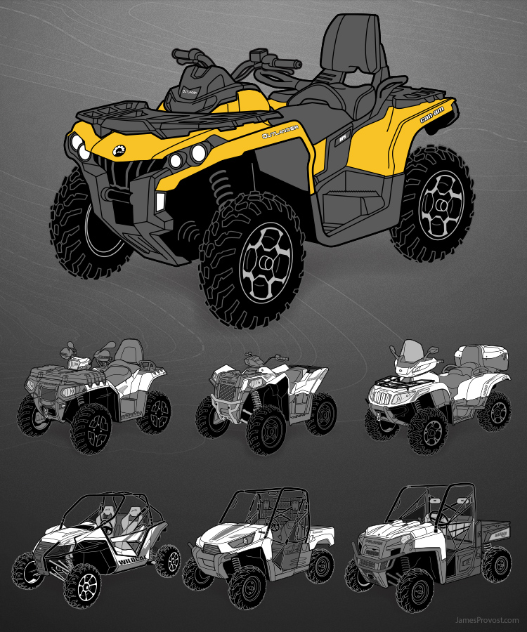 Off-Road Vehicles Illustration