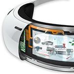 Augmented Reality Visor Concept Illustration