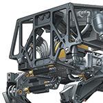 Boston Dynamics BigDog Robot Illustration
