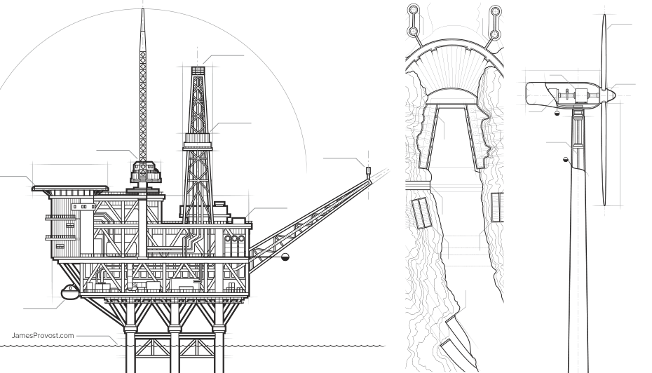 Engineering Style Illustrations