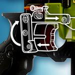Nerf Gun Ghosted Illustration