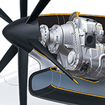 Turboprop Engine Cutaway Illustration