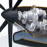 Turboprop Engine Cutaway Illustration