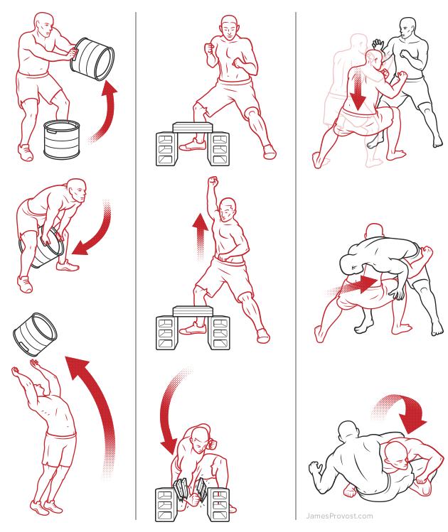 Workout Line Illustrations