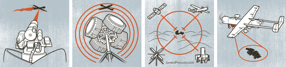 Missile Defense Illustrations for Popular Mechanics