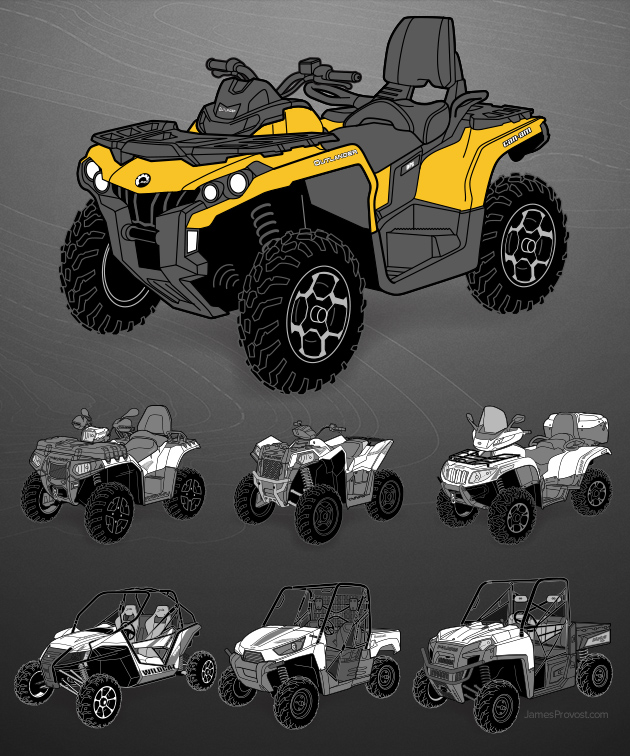 ATV Line Illustrations