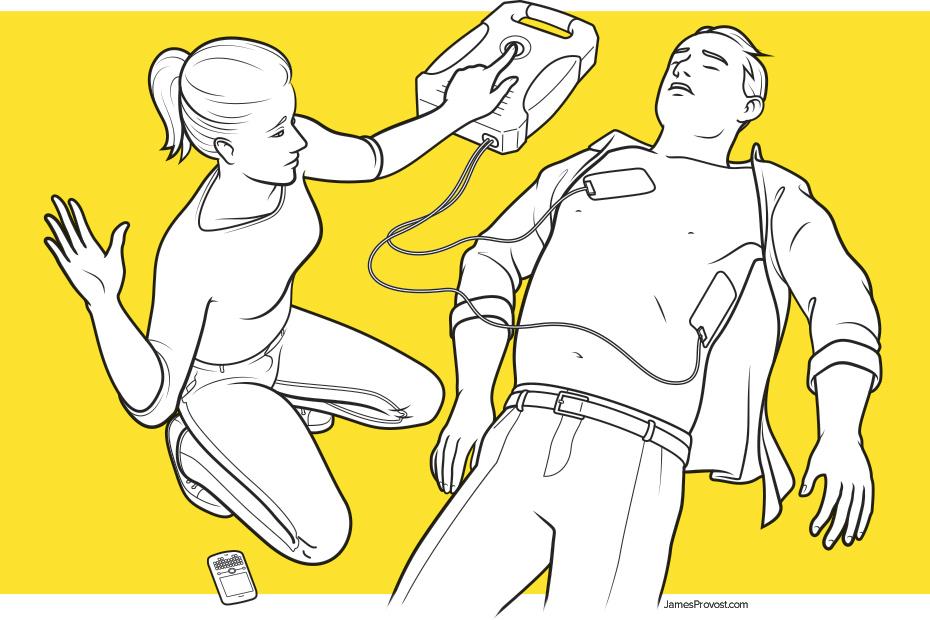 Defibrillator How-To Illustration