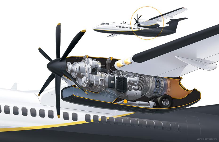 turboprop engine cutaway