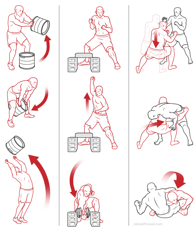 Workout Line Illustrations