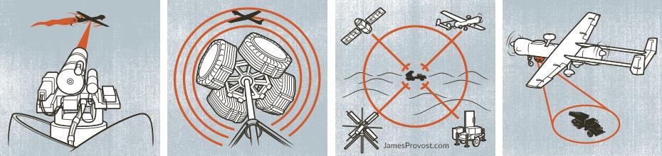Missile Defense Illustrations for Popular Mechanics