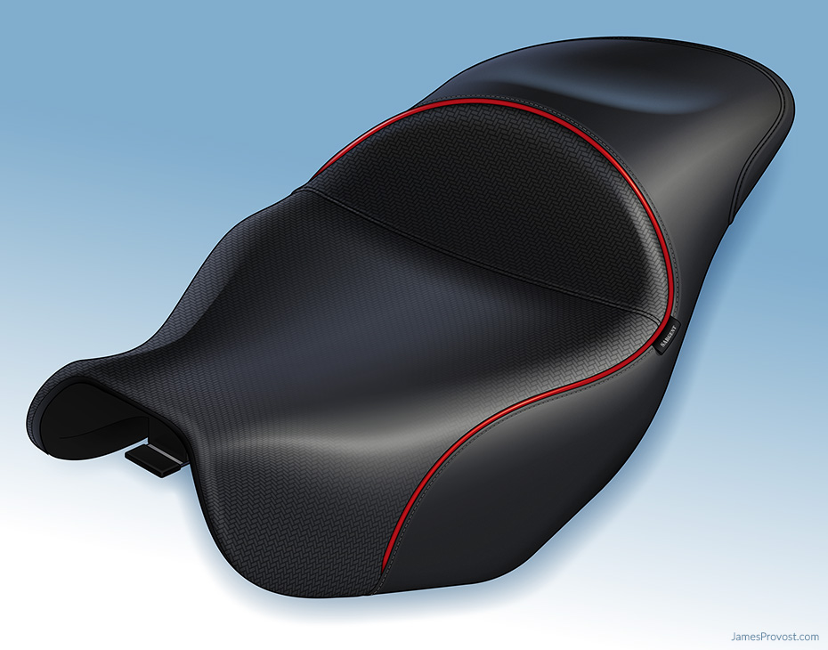 Heated Motorcycle Seat Illustration
